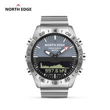 Original North Edge Mens GAVIA 2 smart watch Business Watches Luxury Full Steel Altimeter Compass Dive Sports Waterproof watch