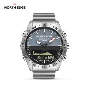 Image 1 - Oryginalny North Edge mężczyzna GAVIA 2 inteligentny zegarek zegarki biznesowe luksusowy pełny stalowy wysokościomierz kompas nurkowanie sport wodoodporny zegarek