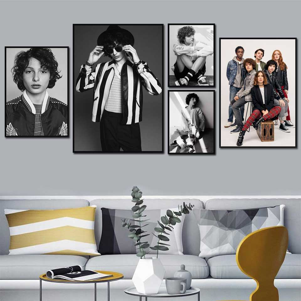 Finn Wolfhard Poster Wall Art Canvas Painting Modern Picture Hd Print Figure Modular Singer Poster For Boy Room Home Decoration