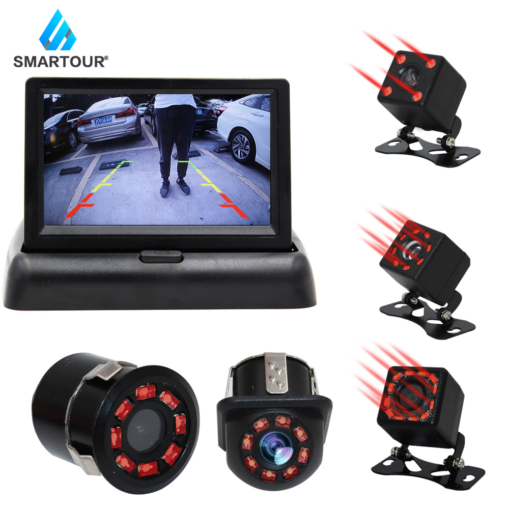 Smartour Car Rear View Camera Reversing Parking System Kit 4.3