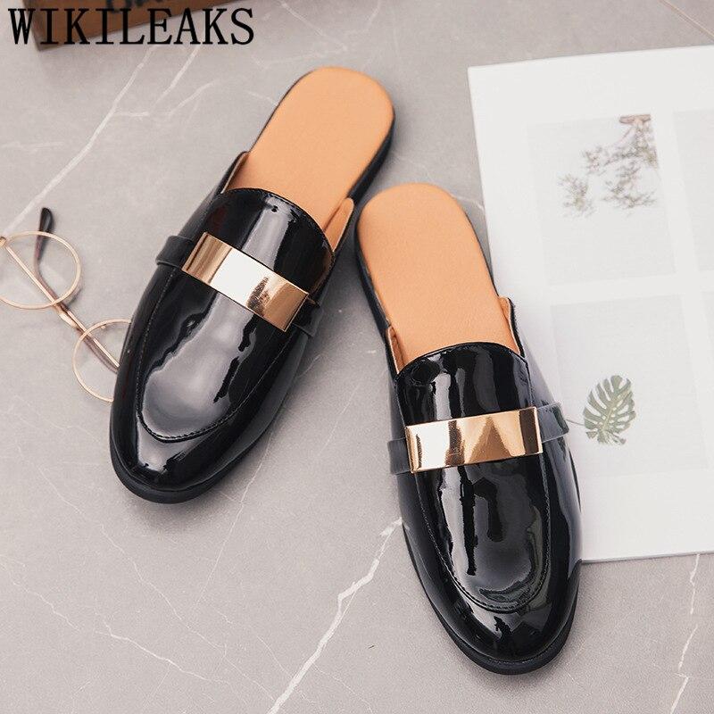 Black Half Shoes For Men Patent Leather Mens Shoes Casual Luxury Shoes Men Fashion Zapatos Charol Hombre Erkek Deri Ayakkabi