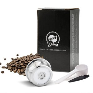 Cápsula de café recargable de acero inoxidable gotero de filtro Compatible con DELTA Q/máquina de café