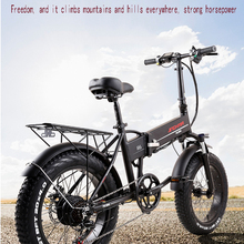 Lithium-Battery-Power Electric-Bicycle Folding 20-Inch Snowfield Walking-Fat-Tire-48v