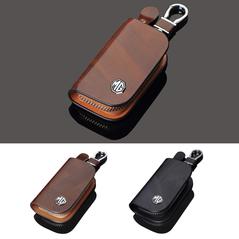 Key Case For Car Leather Keychain Key Holder Bag Wallet For MG Logo 3 6 ZT-T TF ZR ZT GS ZS Accessory Morris Garages Accessories image