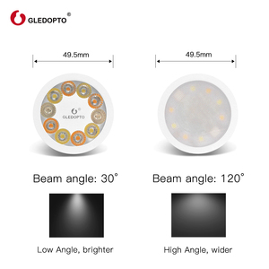 Image 5 - GLED0PTO ZIGBEE Mr16 led spotlight 4W RGB/CCT LED BULB DC12V work with smartthins zigbee hub echo plus smart phone control light