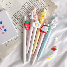 30pcs/set Lovely Cute Egg Gel Pen Strawberry Neutral 0.5mm Black Ink Signature Kawai Student Stationery