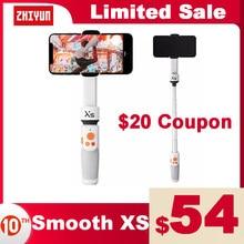 Zhiyun oficial SMOOTH XS cardan de telefone selfie vara handheld estabilizador palo smartphones para iphone huawei xiaomi redmi samsung