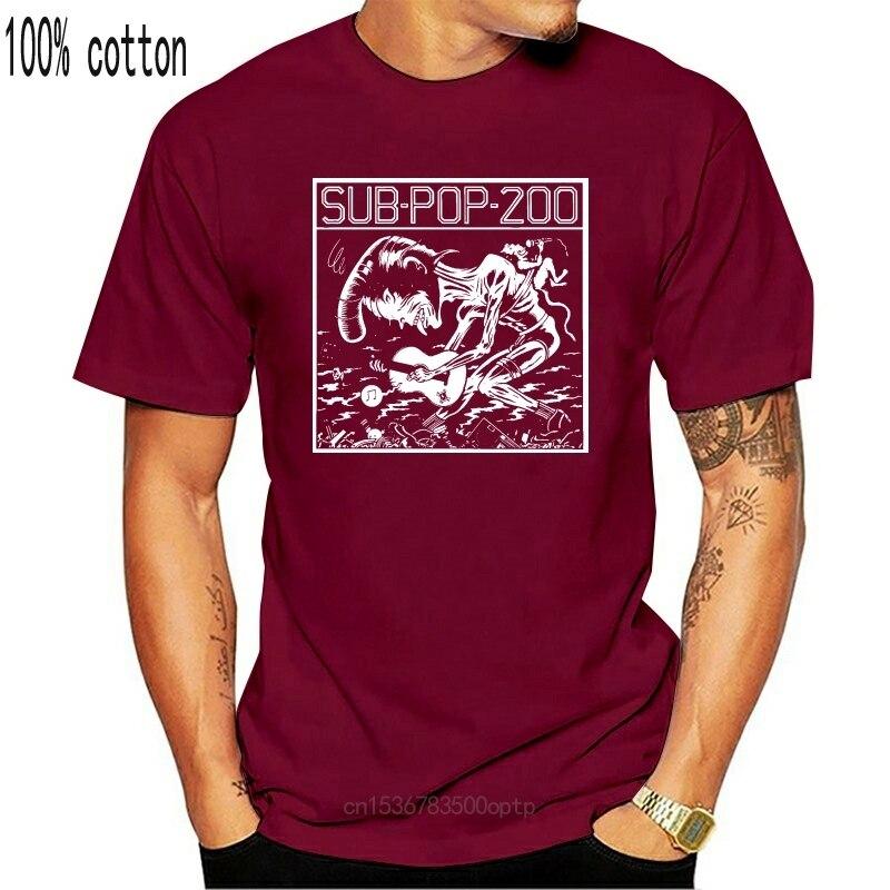 Sub Pop 200 T Shirt boue miel son jardin Grunge L7 mère amour os Tad T-Shirt mâle hauts Hipster hommes manches courtes T-Shirt