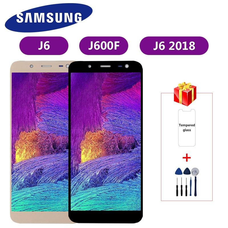 J600 ための調節可能なサムスンギャラクシー J6 2018 J600 J600F J600Y の液晶ディスプレイタッチスクリーン SM-J600F J600G J600FN/ds 組立部品