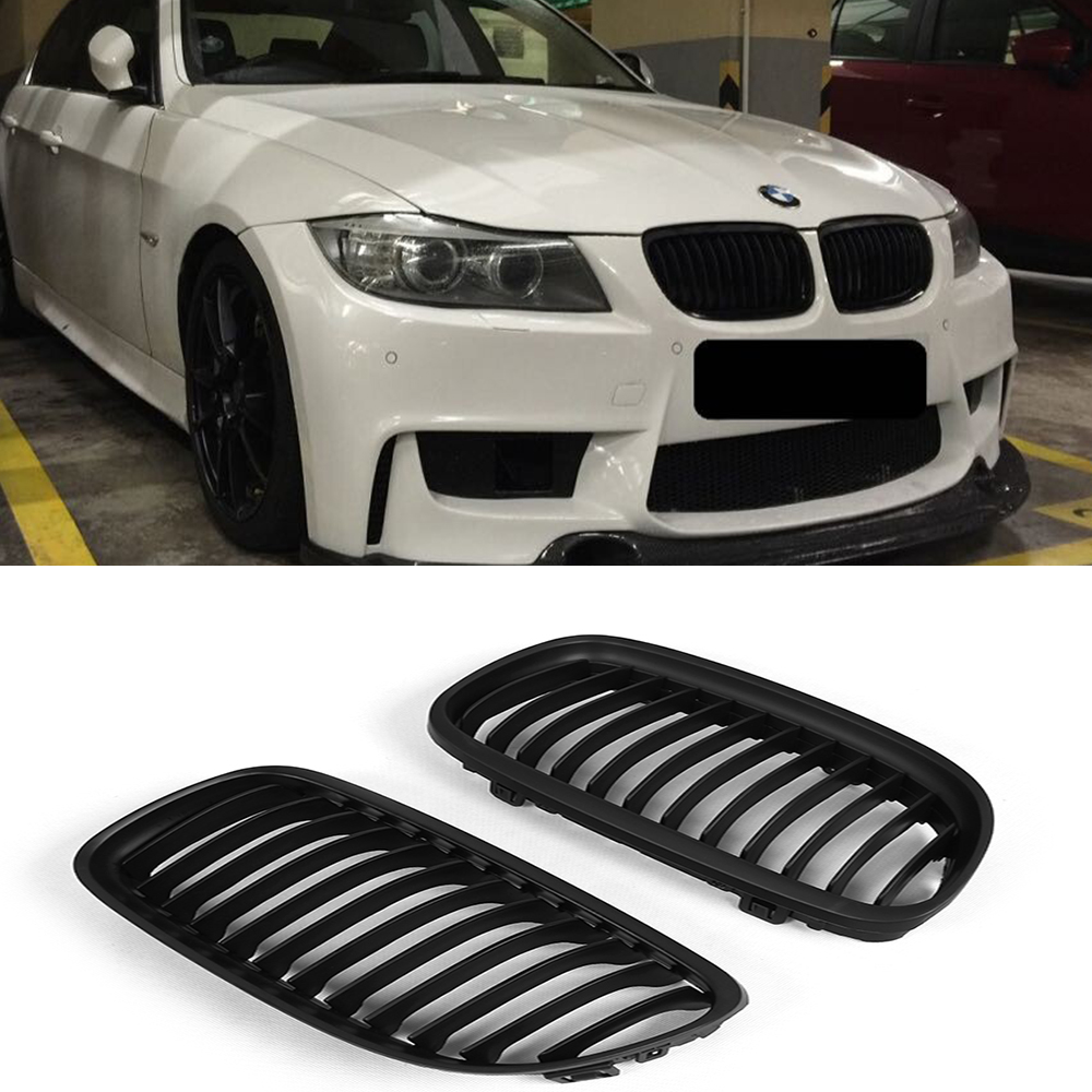 E90 LCI Matt Black ABS Auto Car Front Bumper Mesh Grill Guard for BMW E90 2009 2012|mesh grille|e90 lci|car front grille mesh - title=