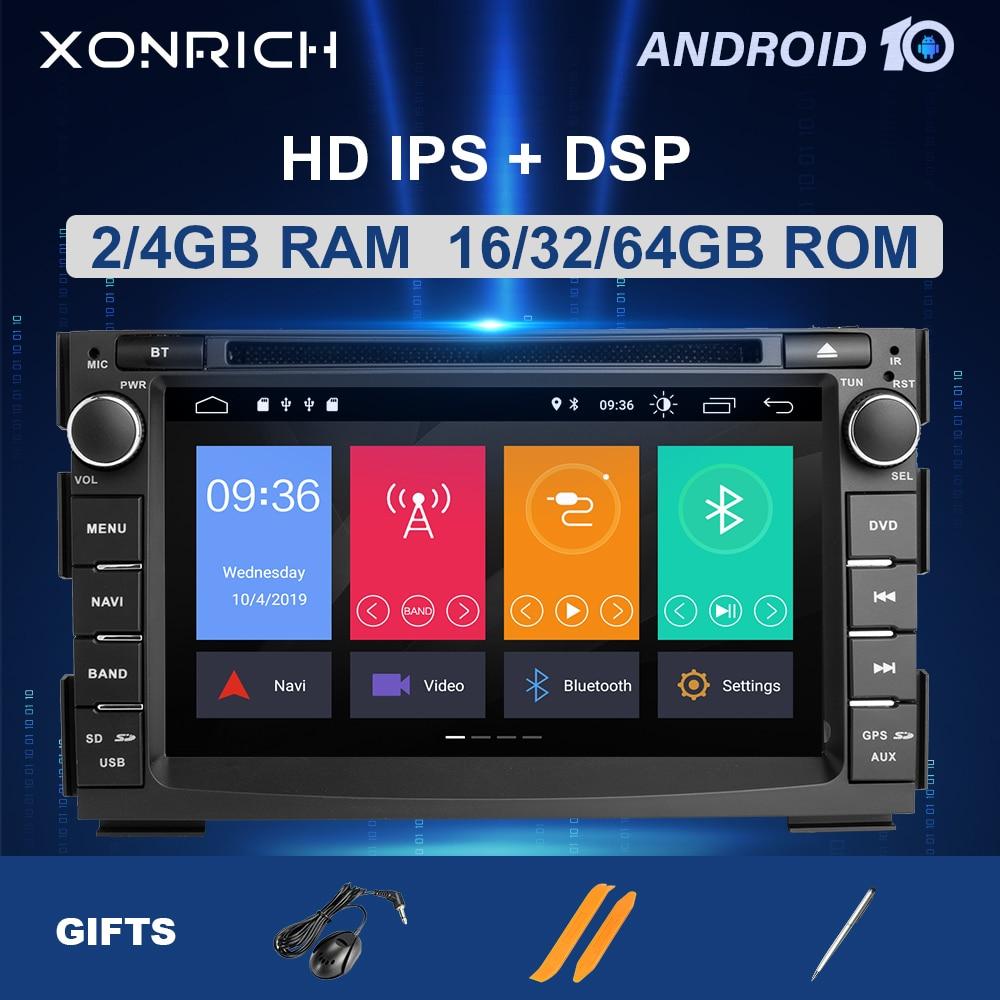 Ips dsp 4 gb 64 2din android 10 reprodutor multimídia do carro para kia ceed 2010 2011 2012 venga rádio estéreo de áudio gps glonass navegação