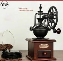 YRP קפה מטחנת עיצוב הבית מטבח אביזרי ריסטה כלים רטרו גלגל ענק קפה תבואה טחנת תבלינים פלפל מטחנות