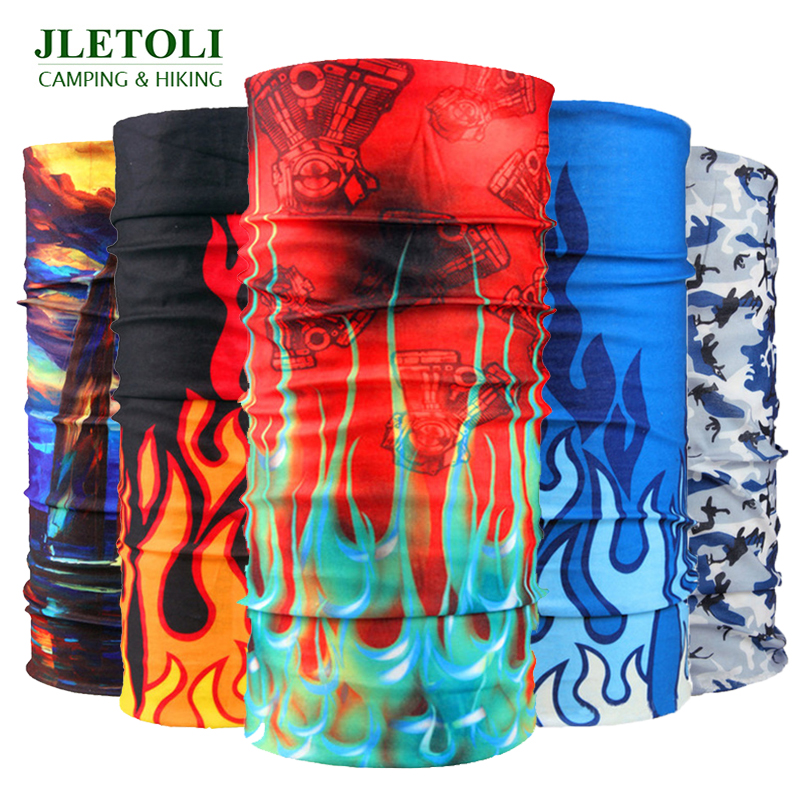 JLETOLI Multifunction Hiking Scarf Bicycle Cycling Headband Sport Magic Scarf Seamless Uv Protection Outdoor Breathable Scarf