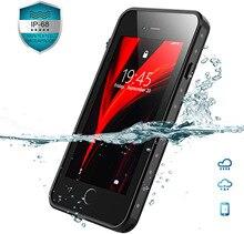 Prawdziwe wodoodporne etui do iPhone X XS XR XSMAX 7 8 Plus odporny na wstrząsy zderzak pływanie 360 ochrona osłona telefonu