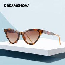 Женские солнцезащитные очки кошачий глаз uv400 модные роскошные