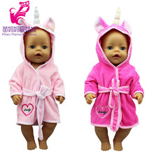 43cm baby Doll Bathrobe Dress Set 18 Inch American og Girl Doll clothes Girl Play Toy Doll Wears(China)