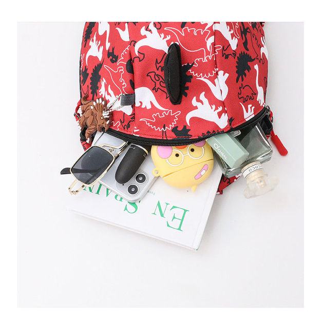 3D Cotton Kids Kindergarten Student School Bags Children Backpack Cartoon Infant Book Bags Dinosaur Book Bags for Baby Girls Boy 2