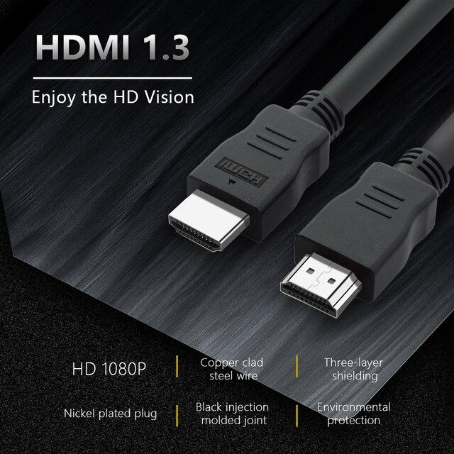 Promoção hdmi cabo de alta velocidade 4k 1080 p 3d para hdtv xbox ps3/4 projetor computador 1.2m navio de espanha entrega rápida cabo hdmi