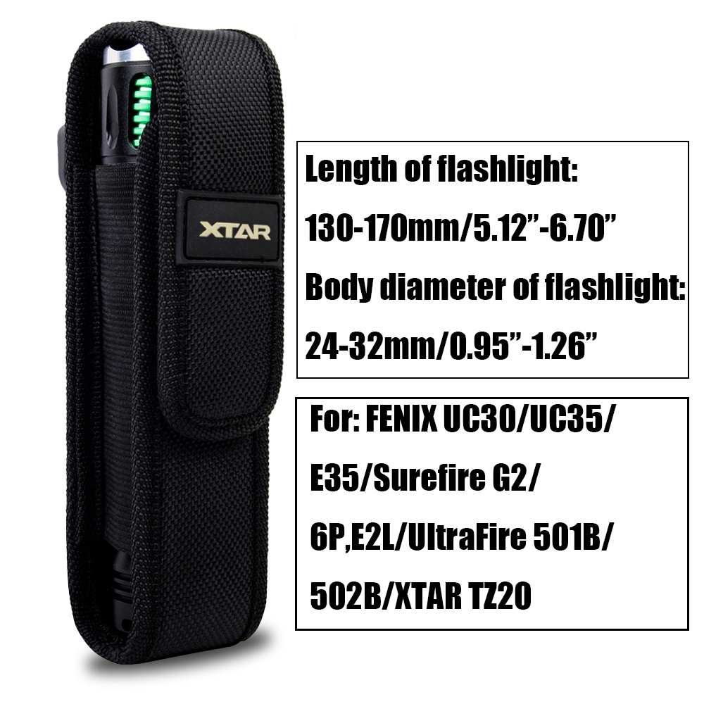 Sports & Entertainment ... Hunting ... 32688841116 ... 2 ... XTAR TZ20 Flashlight Molle Pouch LED Torch Holster Flashlight Case Outdoor Camping Hiking Hunting Flashlight Holster for Fenix ...