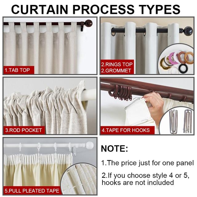 Premium White 100% Blackout Curtains for window Modern Bedroom curtains. living room Blackout Curtains
