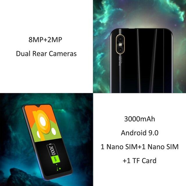 """LEAGOO M12 telefon komórkowy 5.7 """"HD + ekran Waterdrop 2GB RAM 16GB ROM MT6739V 3000mAh 8MP aparat smartfon z androidem"""