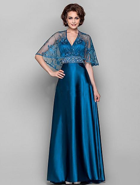 Gorgeous Mother Of The Bride Dresses With A Jacket 2016 Lace Royal Blue Long Elegant Party Evening Dress Gowns Custom Make