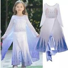 Disfraz de reina de la nieve para niñas, vestido de Elsa 2, vestido de princesa Elsa, Vestidos de Vestido de fiesta de cumpleaños de niña para bebés