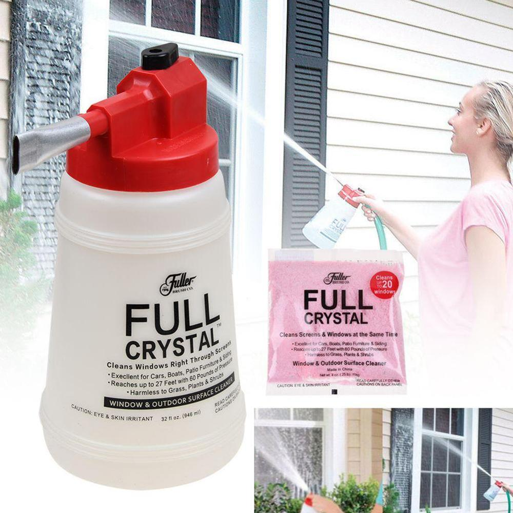 Full Crystal Car Wash Cleaning Watering Can Window Cleaner Glass Cleaning Handheld Spray Bottle Outdoor Glass Cleaner For Cars