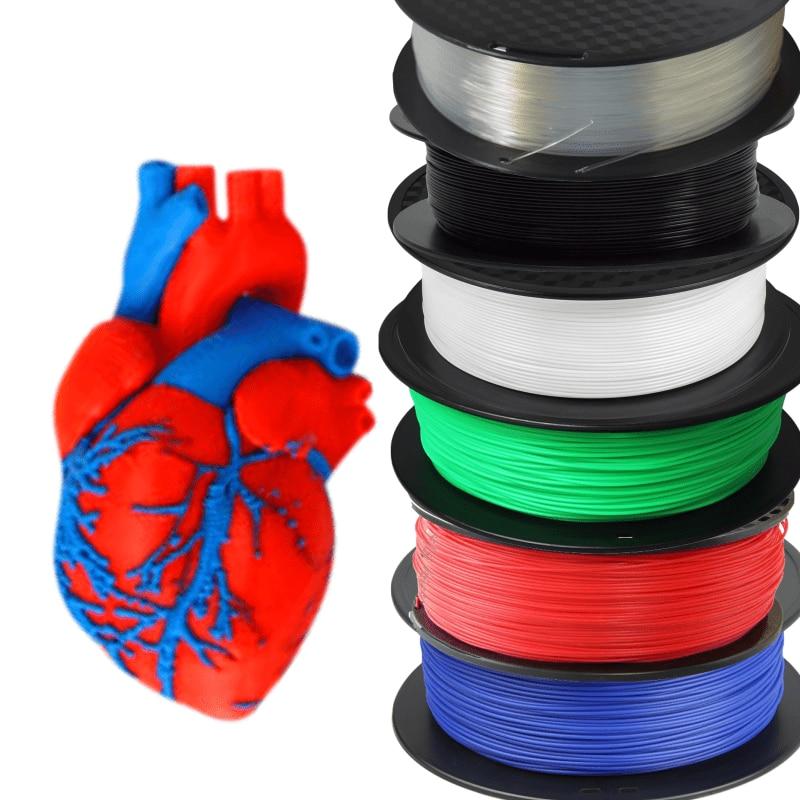 Geeetech PLA Filament 1.75mm Plastic 3D Printer 1kg-Roll for Transparent Muticolor Luminous Green Wo