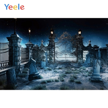 Yeele Halloween Photocall Scary Old Castle Tombs Photography Backdrops Personalized Photographic Backgrounds For Photo Studio