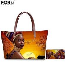 FORUDESIGNS African Queen Girl Print Women Handbag Brand Designer Shoulder
