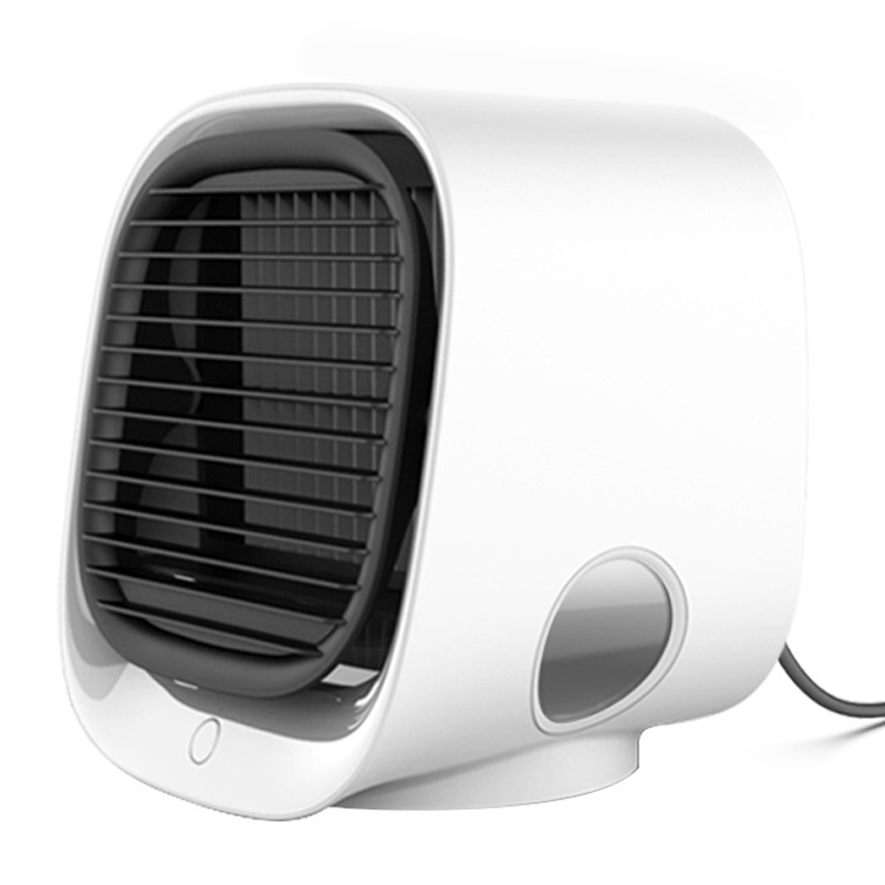 Mini Portable Air Conditioner 7 Colors Light Conditioning Humidifier Purifier USB Desktop Air Cooler Fan For Home Office