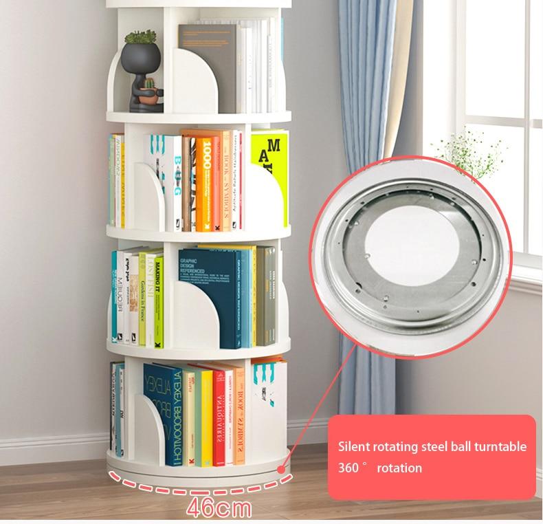 Creative Floor Rotating Bookshelf