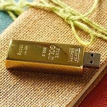 Capacité réelle barre d'or clé USB 3.0 mémoire Flash clé de disque 64GB 8GB 32GB clé USB 1 to 2 to clé USB 16GB 512 GB cadeau