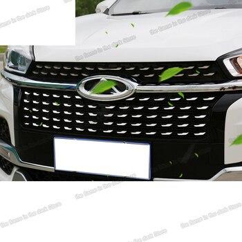 Lsrtw2017 Stainless Steel Car Front Middle Net Gypsophila Sticker for Chery Tiggo 8 2018 2019 2020