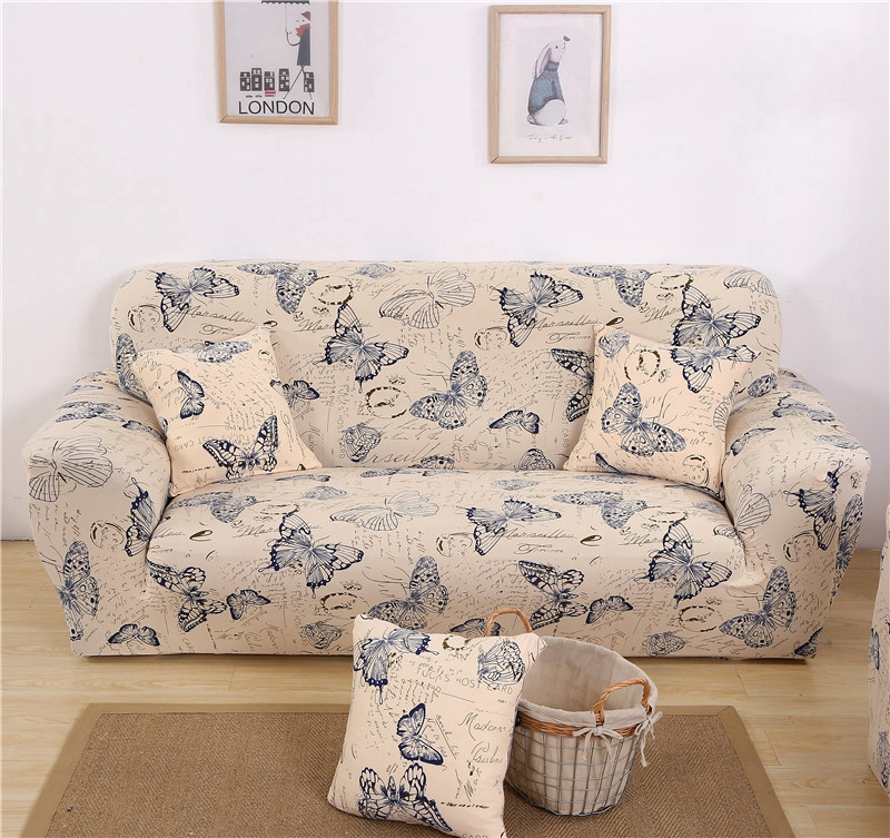 Outstanding Butterfly Removable Armrest Sectional Sofa Covers Polyester Chair Throw Pet Furniture Protector Spandex Stretch Slipcovers Dining Room Seat Covers Ncnpc Chair Design For Home Ncnpcorg