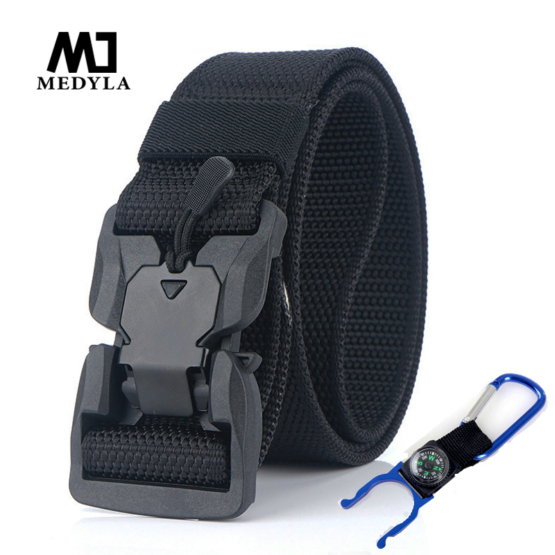 Tactical   Belt   Magnetic Buckle High Quality Thick Army Nylon Military Outdoor Sports   Belt   Tactical Buckle Hunting Waistband