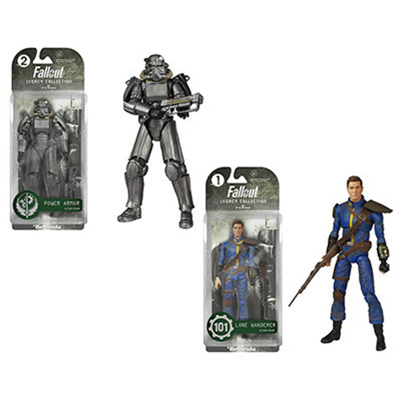 Model Fallout 4 Game Figure Model PVC Fall Out Lone Wanderer & Power Armor action & toy figures image