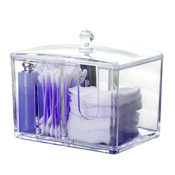 Acrylic Cotton Swab Makeup Box Portable Container Make Up Cotton Pad Holder Cosmetics Organizer acrylic cotton swab makeup organizer storage box portable container make up cotton pad holder cosmetics organizer storage case