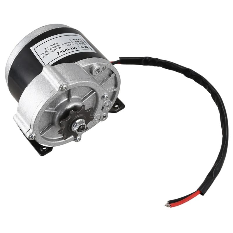 MY1016Z2 250 W, работающего на постоянном токе 12 В в Шестерни коллекторный двигатель для электровелосипедов щетки электрического трицикла мотор ...