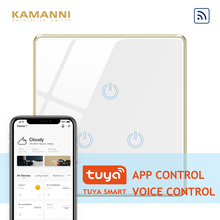 Kamanni WiFi Touch Light Switch Zigbee,Tuya Control 3 Gang 1 Way Golden/Black/White/Grey 4 Colors Optional 1/2/3 Gang 1 Way 10a ifree fc 368m 3 channel digital control switch white grey