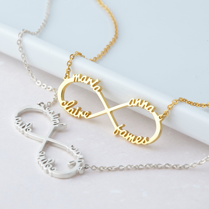 you can also choose stickers gift thank you with your personalized text at no extra charge Infinity chain ROS\u00c9GOLD