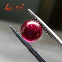 Искусственный 5 # Рубиновый Красный цвет форма сферы/форма шарика