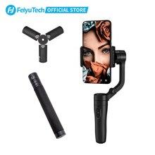 Feiyutech bastão de selfie manual para smartphone, estabilizador de cardan, de bolso, para iphone 11 pro max xr 8 7 plus 6 huawei p30 pro