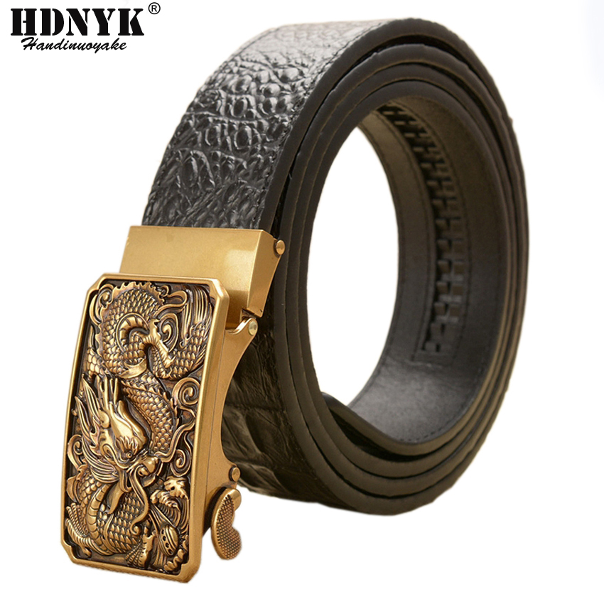 Retro Classical Designer Belt For Men Luxury Real Cowskin Leather Men Belts Waistband High Quality Businessmen Belts Automatic