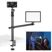 VIJIM LS01 Desktop Light Stand 96cm Extendable Tabletop Mount Stand With Removable Ballhead 1/4 Screw for Ring Light DSLR Camera
