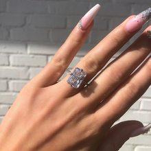 Bague en argent Sterling 925 pour femmes, bijoux de luxe en gros cristal, taille 6 7 8 9 10, 2020