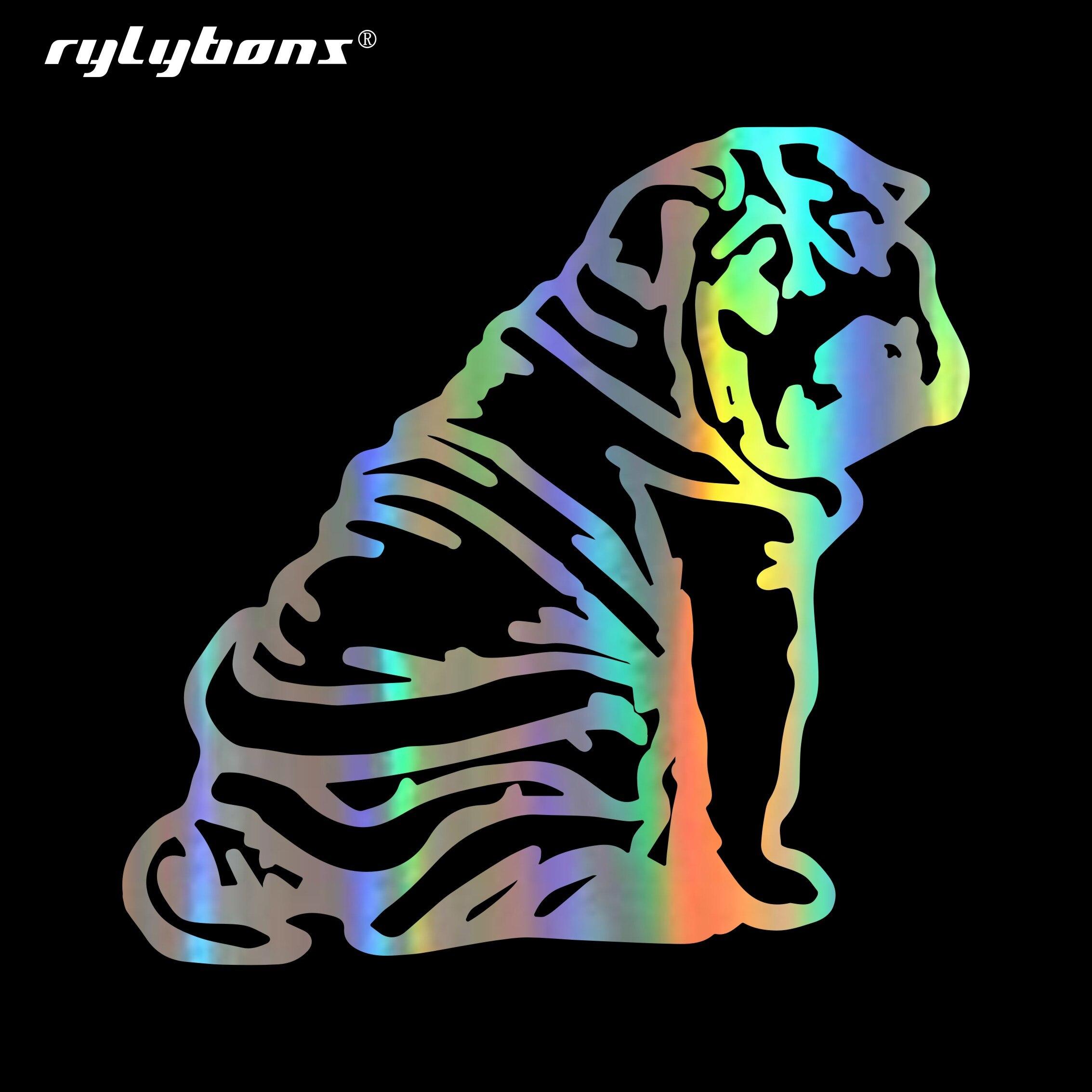 Rylybons Новый шар пей щенок стикер на машину с собакой мотоцикл автомобиль окно кузова виниловые наклейки и наклейки аксессуары Стайлинг авто...