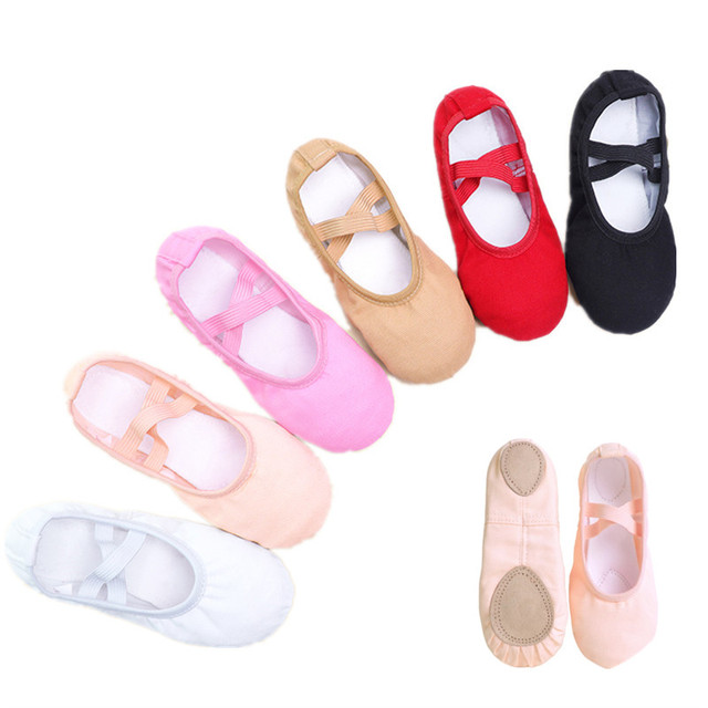Girls Kids Pointe Shoes Dance Slippers High Quality Ballerina Practice Shoe For Ballet 6 color Ballet Dancer Professional Shoe 1