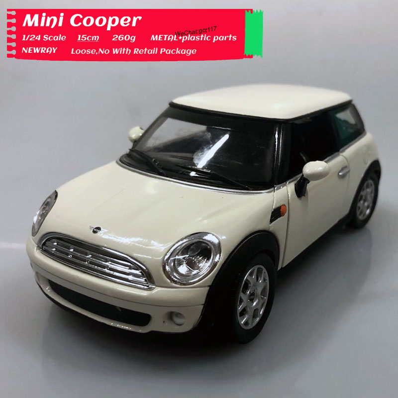 Newray 1/24 Scale Car Model Toys Mini Cooper Diecast Metal Car Model Toy For Collection,Gift,Kids